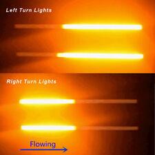 2x30cm Switchback Flowing Car LED DRL Knight Rider Turn Signal Brake Light Strip