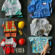 Lot of 6 Melissa & Doug Role Play Costumes/Dress-Up Sets 3-6yrs