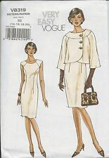 out-of-print:  Vogue V8319 pattern, Schnittmuster, sizes 14-16-18-20, Gr. 40 -46