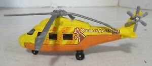MATCHBOX YELLOW RESCUE HELICOPTER OUTBACK ADVENTURE TOURS DIECAST TOY 2001 Used