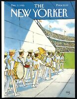 1985 College Marching Band art by Arthur Getz December 2 New Yorker COVER ONLY