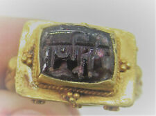 BEAUTIFUL ANCIENT ISLAMIC HIGH CARAT GOLD RING WITH CARNELIAN INSCRIBED STONE