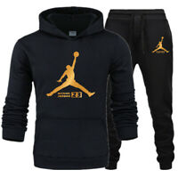 NEW Mens Michael Air 23 Jordan Tracksuit Flight Hoodie & Pants Men Sportswear