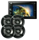 Gravity VGR-D900BT 2-DIN DVD Car Receiver + 4x Pioneer TS-F1634R 6.5