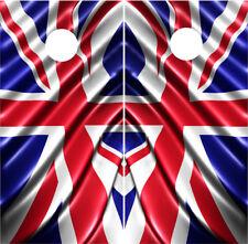 British Flag Union Jack Cornhole Wraps Vinyl Board Decals Bag Toss Game Sticker