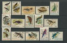NORFOLK ISLANDS 1970-71 BIRDS long set complete VF MNH