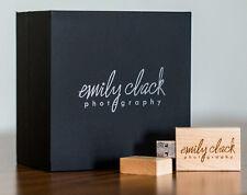 Customized Maple Wood USB 2.0 Flash Drive Photography Elegant Black Box Pendrive