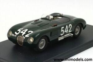 JAGUAR XK120 C type 1953 MILLE MIGLIA #542 Stirling MOSS 1:43 wh/metal handbuilt