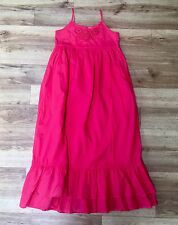 Girls Zara Red Party Summer Maxi Dress Age 11-12 Years  Ruffle Floral