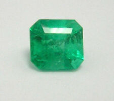 Colombian Emerald Square Shape 1.06 Ct Natural Loose Emerald from the Muzo mines
