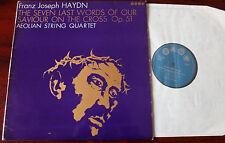 HAYDN SEVEN LAST WORDS OP 51 LP AEOLIAN STRING QUARTET SAGA XID 5245 NM- ENGLAND
