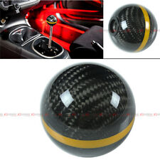 M8 X 1.25 CARBON FIBER JDM AUTO TRANSMISSION SHIFT KNOB W/ GOLD STRIP FOR SCION
