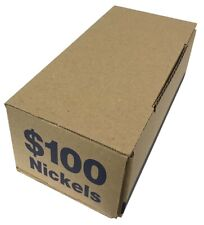 Coin Roll Storage / Shipping Transportation Box For $100 US Nickels Blue Color