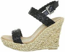 Skechers Wedge Black Strappy Sandal Size 4 New £21.99
