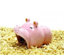 1X Ceramic Hamster nest Cool house-Hippo Shape