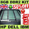 UK SELLER (8GB) 4x 2GB DDR2 PC2-5300F 667Mhz ECC REG Registered FULLY BUFFERED