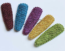 Free Shipping 50pc 55mm Luxury Knit  Snap Hair Clip Cover in Deep Colors