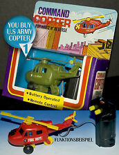 COMMAND COPTER | U.S.ARMY > ELEKTRO HUBSCHRAUBER HELICOPTER OVP > ACTION FIGURES