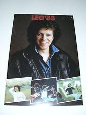 LEO SAYER - LEO'83 Great Britain Tour - Official Tour Programme
