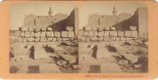 JERUSALEM Terre Sainte Religion Stereo J. Andrieu Albumine c1870