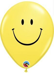 Yellow Smile Face 11″ Latex Balloons (50) Qualatex Party