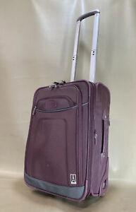 "Travelpro Crew 7 Plum 20"" Upright Wheeled Exp Carry On Suitcase Style 407082007"