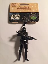 DISNEY STORE SKETCHBOOK ORNAMENT 2016 Star Wars DEATH TROOPER Rogue One ~in hand