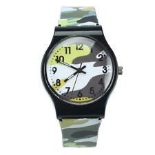 Fashion Camouflage Kid Watch Quartz Wristwatch For Girl Boy Clasp Plastic Watch