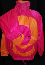 OBERMEYER Gore-Tex Neon Pink Jogging Track Ski Suit Pants Jacket Size 6/8 Small