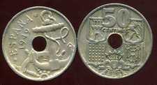 ESPAGNE  50 centimos 1949  ( 54 )  ( bis )