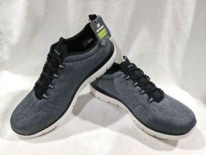 Skechers Summits Louvin Grey/White Men's Slip On Sneakers - Size 10 NWB WIDE FIT