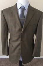 Burberry London WOOL Jacket Men's 44 Gray Plaid 3 Button Made In USA