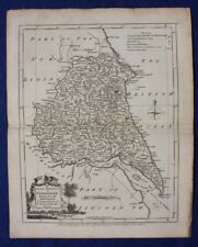 Original antique county map EAST YORKSHIRE, EAST RIDING, J.Ellis, c.1765