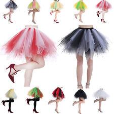 5ba31817c Women Short Vintage Retro Ballet Dance Skirt Tulle Petticoat Tutu Underskirt