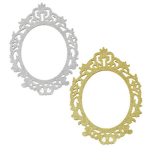 Glitter Antique Style Wooden Oval Frame, 11-3/4-Inch