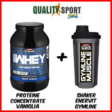 Enervit Gymline Muscle 100% Whey Proteine Concentrate Vaniglia 900 g + Shaker