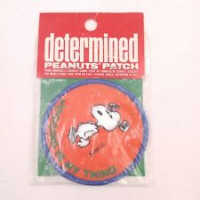 """Vintage Determined Peanuts 3"""" Patch - Snoopy Jogging is My Thing NOS"""