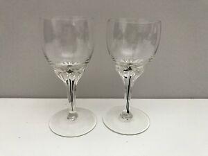 "2 Belfor crystal - Exquisite pattern - Liqueur Glasses 4"""