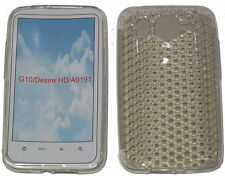 For HTC Desire HD G10 A9191 Pattern Gel Jelly Case Protector Cover Pouch Clear
