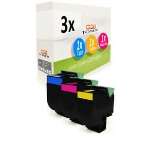 3x Cartouche D'Encre XXL Pour Lexmark CX-310-n CX-510-dhe CX-510