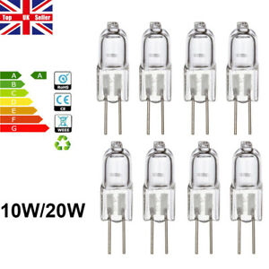 30pcs G4 10W 20W Halogen Bulbs Capsule Light Bulb Replacement Lamps AC 2Pin 12V