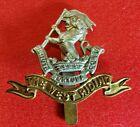WWI WWII BRITISH ARMY DUKE OF WELLINGTON'S REGIMENT WEST RIDING CAP BADGE SLIDER