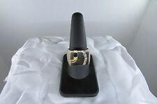 Mens Massive Sapphire and Diamond 14K Gold Ring Size 11