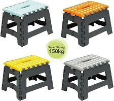 Whatmore Wham Small Folding Grey Foot Step Stool 150kg (Assorted Top Colours)