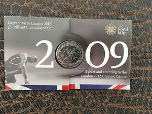 2009 Countdown to London Olympics Five Pounds £5 coin Brilliant Uncirculated UK