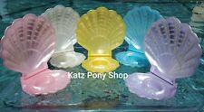 HQG1C Vintage G1 My Little Pony Style Sea Glimmer Clam Shells 💜FULL SET of 5💜