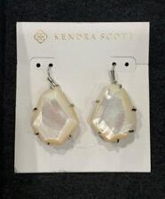 Kendra Scott Rosenell White Mother of Pearl Earrings NWT