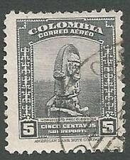 Colombia Scott# C121, Pre-Columbian Monument, 5c, Used, 1941
