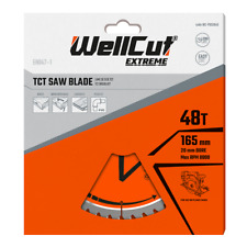 WellCut Plunge TCT Saw Blade 165mm x 48T x 20mm For DWS520 DCS520 SP6000 GKT55