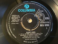 CLIFF RICHARD . CLIFF'S HITS E.P. . IT'LL BE ME / DO YOU WANT TO DANCE .